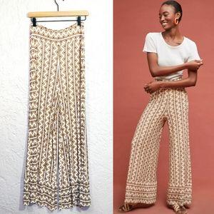 Farm Rio High Rise Wide Leg Stretch Print Pants